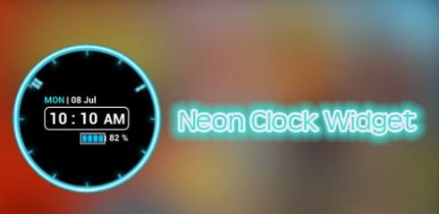 Neon-Clock-Widget