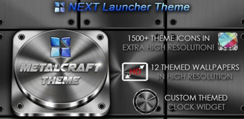 Next-Launcher-Theme-Metalcraft